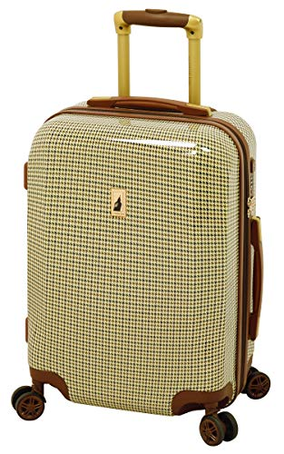 London Fog Cambridge 20' Expandable Hardside Spinner, Olive Plaid