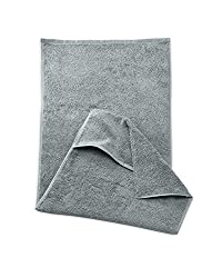myHomery sports towel - fitness towel with straps for training equipment, anthracite, 40x100cm + 16 cm