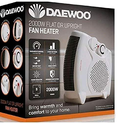 Daewoo 2000w flat or upright heater