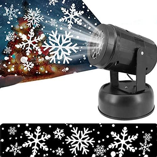 Luces Proyector LED, Kaishengyuan Proyector Copo Nieve LED Luz Blanca,Enchufe USB, para Navidad, Fiesta, Boda, Cumpleaños.