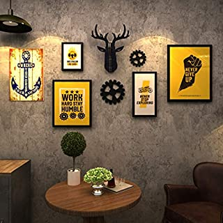 Retro Bar Industrial Style Decorative Murals, Internet Cafes, Hair Salons, Creative Personality, Wall Decorations, Picture Frames,OneSize