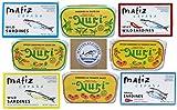 Seafood Aficionado Sardine Sampler | 8 Pack | NURI Portuguese Sardines and Matiz Spanish Sardines Bundle | 8 Cans, One of Each Variety