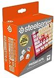 SteelSeries PrismCaps – teclas de doble inyección estilo pudding – termoplástico PBT resistente – compatible con la mayoría de teclados mecánicos – vástagos MX – blanco (Configuración británica)