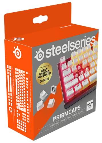 SteelSeries PrismCaps – teclas de doble inyección estilo pudding –...