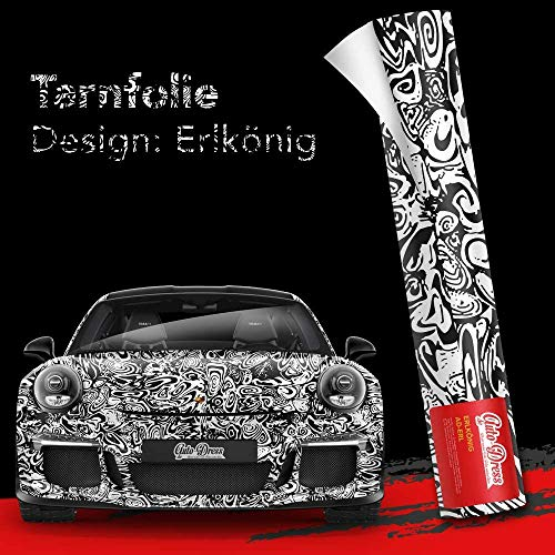 30x150cm Erlkönig Tarnfolie für Prototypen in Matt - Folie mit Luftkanäle für blasenfreies 3D Wrapping!