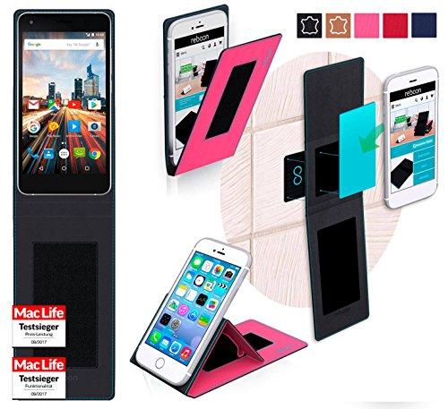 reboon Hülle für Archos 50f Helium Lite Tasche Cover Hülle Bumper | Pink | Testsieger