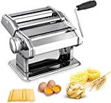 Pasta Maker Machine,All in one 7 Thickness Settings Stainless Steel Manual Roller Pasta Maker for...