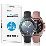 [4 Pack] OMOTON for Samsung Galaxy Watch 3 41mm Screen Protector, Tempered Glass Screen Protector Compatible with Samsung Galaxy 3 41mm 2020/ Galaxy Watch 42mm/ Gear S2/ Gear Sport