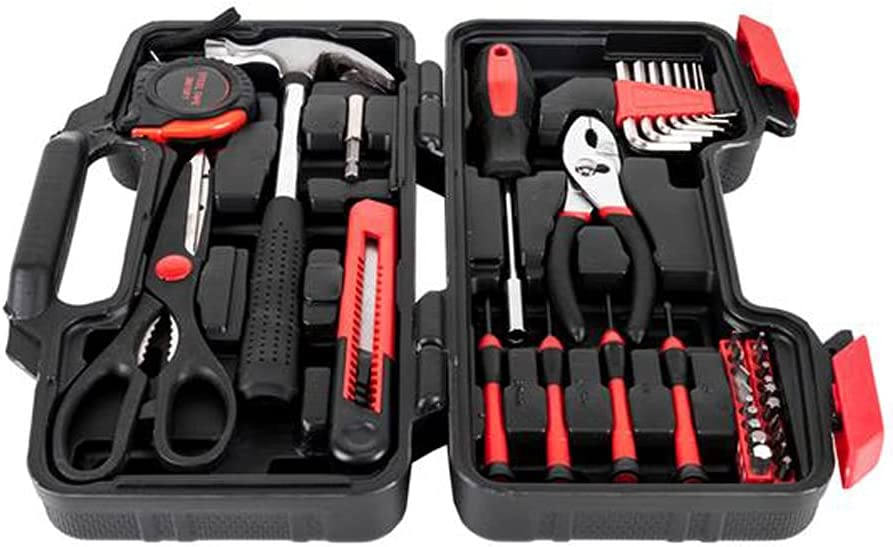 JJCF 39-Piece Tool Kit Spring new work one after Purchase another Professional Set Auto Repair Combina