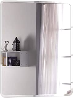 WYXIAN Bathroom Mirror Wall-Mounted Frameless Rectangle Makeup Decoration Simple, 4 Sizes (Color : Silver, Size : 35X45CM)