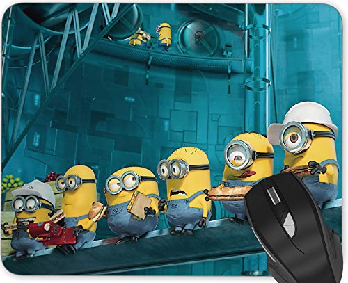 Gaming Mouse Pad ,Anime Personalized Design Rectangle Mousemat for Cute Women, Girls, Non-Slip Rubber Mouse Pads for Office Computers Laptop (Disney Minions)