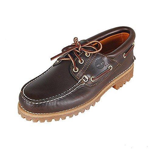 Timberland Authentics 3 Eye Classic, Chaussures Bateau Homme, Marron MD Brown Full Grain, 44.5 EU