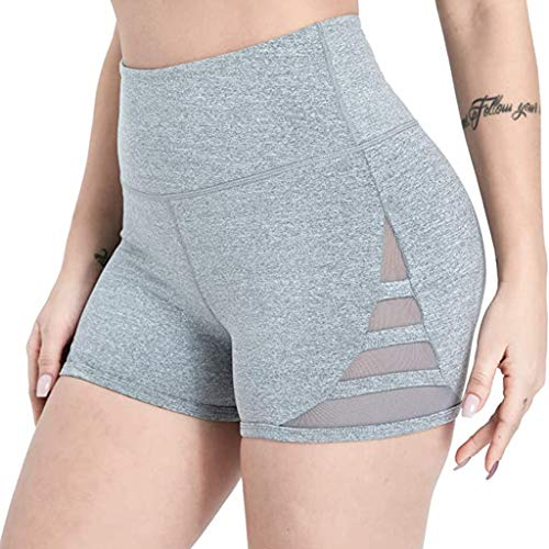 Great Price! kaifongfu Womens High Waist Fitness Running Non-Perspective Yoga Shorts Safety Shorts P...