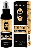 Grandeur Mooch And Beard Oil For Men For Thicker & Longer Beard- 100mL with Vitamin E & Argan Oil