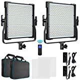 Switti 2-Pack LED Video Light, Dimmable Bi-Color 3000K-8000K CRI96+ Photography Lights, Video Lighting Kit for Studio Portrait Product Photography YouTube Recording Outdoor Shooting