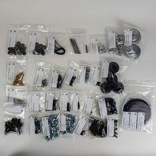 WNJ-TOOL, 1set Mechanical Fasteners Screw Nuts & Motion 80T Pulley Gates Belt Set For VORON 2.4 3D Printer