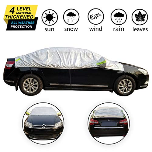OMIGAO Windshield Snow Cover, Half Car Cover Top Waterproof All...