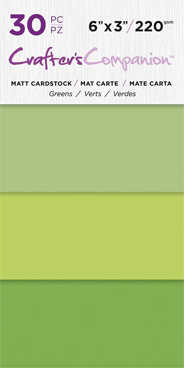 Crafter's Companion CC-PAD-MC-GRE 6x3 Luxury Pack (30 Sheets) Cardstock Green