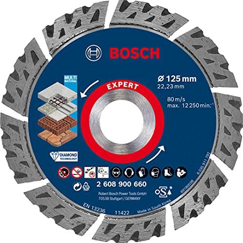 Bosch Professional 1x Expert MultiMaterial Diamanttrennscheiben (für Beton, Ø 125 mm, Zubehör Kleiner Winkelschleifer)