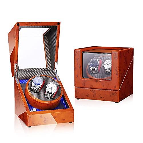 AMAFS Caja de enrollador de Reloj para Relojes automáticos o Compatible con Motor súper silencioso de tamaño Doble, Alimentado por batería de Watch Winder Smith Festival