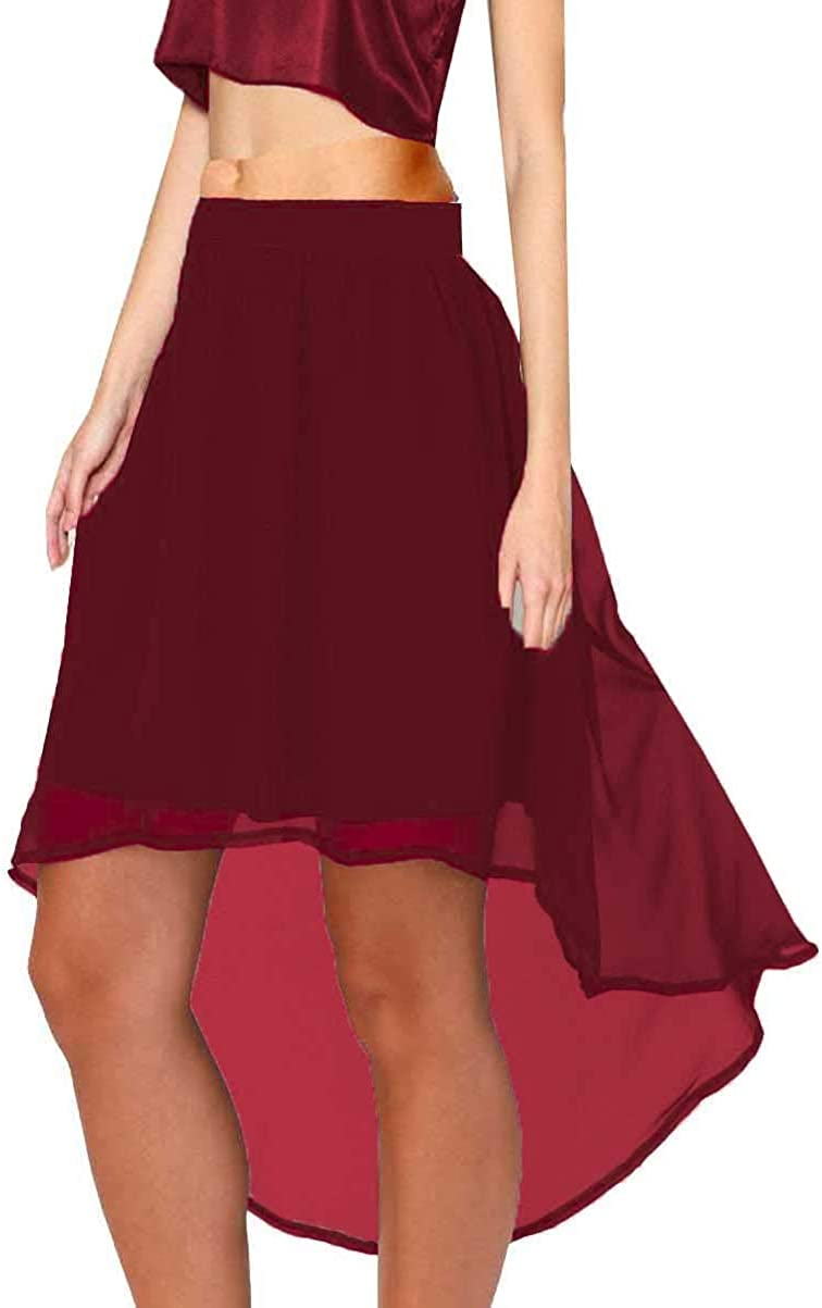 Meek Mercery Asymmetrical Elastic Skirt Belly Dance Wear Chiffon Waterfall Skirt One Size C9