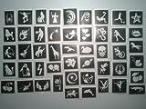 200 Tattoo-Schablonen für Glitzer Tattoos