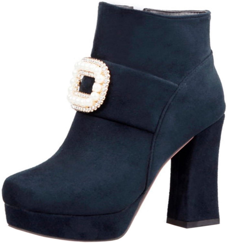 FANIMILA Women Fashion High Heel Zipper Boots