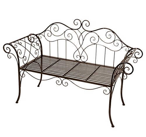 2-Sitzer Gartenbank Viva La France aus Metall