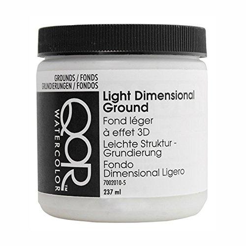 Golden QoR Watercolor Light Dimensional Ground 8 Oz, White