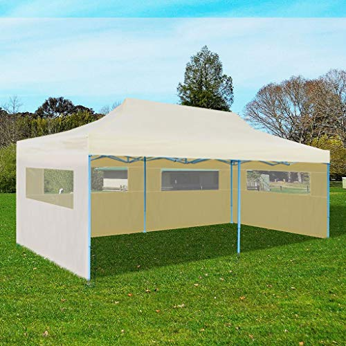 YCDTMY Cream Foldable Pop-up Party Tent Gazebo Storage Shetler Canopy for Outdoor Shows Sporting Events Weddings Parties BBQs...