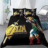 KENEL Fundas para edredón, The Legend of Zelda Funda nórdica Estampada con 2 Fundas de Almohada Juego de sábanas de Microfibra Suave Funda de edredón-# 5_El 135 * 200cm
