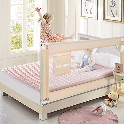 70 Inches Bed Rail for Toddlers Fold Down Safety Baby Bed...