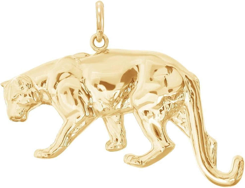 Ranking TOP9 Solid 14k depot Gold Pendant Tiger
