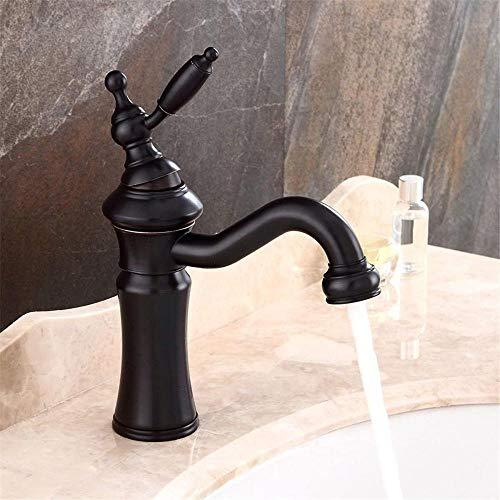 Grifo de lavabo de baño, grifo de lavabo, grifo de lavabo, grifo de lavabo giratorio negro para baño, grifo de cocina