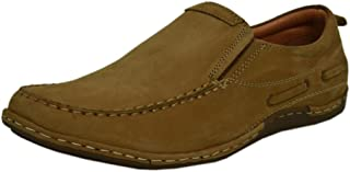 Zoom Casual Shoes for Men Genuine Leather Shoes Online 2072-Tan Colour
