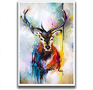 Supperitem: Dear Art Painting Multicolour Wall Picture Home Living Room Figure Poster Vinyl Sticker Paper (Size 24 x 36 inch)