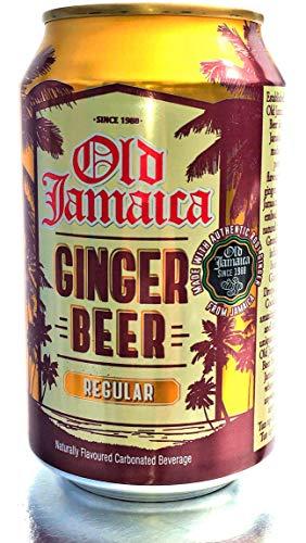 Old Jamaica, Bibita analcolica con sapore di birra allo zenzero (0% alcol), Pacco di 24 lattine