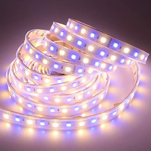 LTRGBW Tira de luces LED SMD 5050 DC 24 V 360 LED 5 M RGBW RGB + blanco cálido (6500 K-7000 K), IP67, resistente al agua