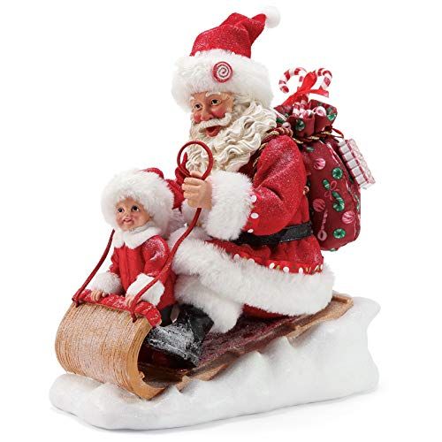 Department 56 Possible Dreams Santa Sports and Leisure Snow Much Fun Figurine, 9.5 Inch, Multicolor