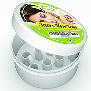 Snore Stopper Nose Vents for Anti Snoring Solution. Contain 4 Anti-Snoring Nasal Dilator in 2 Different Sizes. Instantly Stop Snoring