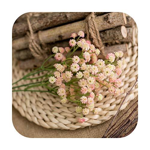 Art Flower 1 guirnalda de flores artificiales de 62 cm, decoración de decoración para el hogar, mesa, boda, flor, plástico, San Valentín, regalo de decoración, color rosa