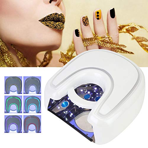 48w nail lamp, LED UV gel lamp, nail dryer, nail oven, with 21 light chips and automatic sensor and 4 timers and double light source (03)