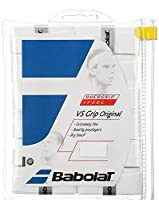 Babolat(バボラ) 硬式テニス バドミントン グりップテープ VS GRIP X12 (12本入り) BA654010 ホワイト(003) 長さ110cm 厚さ0.43mm