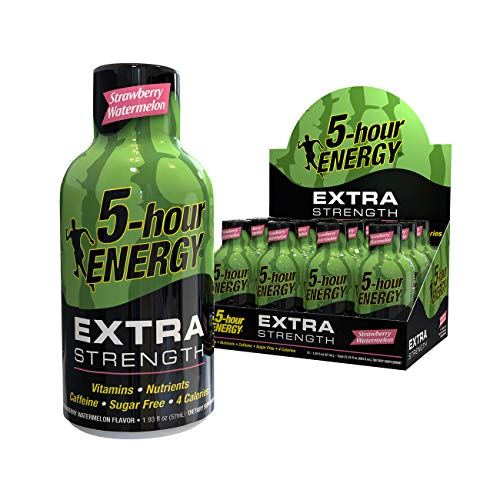5-hour ENERGY Shot, Extra Strength, Strawberry Watermelon, 1.93 Ounce, 12 Pack