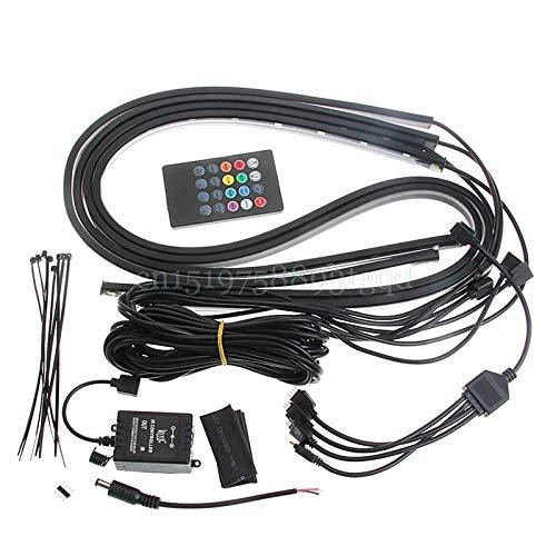 RGB-LED-Streifen unter der Fahrzeugröhre Unterbodenbeleuchtung Neonlicht-Fernbedienung