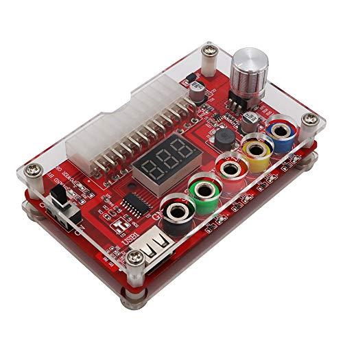 Bayda ATX 24Pin Power Breakout Board mit ADJ-Einstellbarem Spannungsknopf und Acrylschalen-Kit-Spannungsregler
