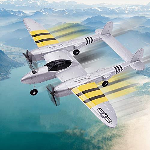 AORED Ala fija remoto Bombardero de control de combate del relámpago eléctrico modelo de avión de juguete de espuma EPP deslizante helicóptero teledirigido, La mejor Navidad regalo de cumpleaños for l