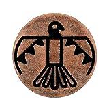 Bezelry 12 Pieces Aztec Thunderbird Metal Shank Buttons. 20mm (3/4 inch) (Antique Copper)