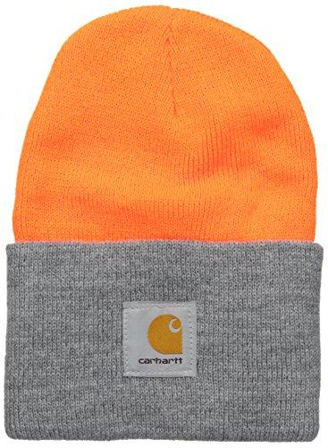 Carhartt Watch Hat Gorro/Sombrero, Bright Orange/H.Grey, OFA Unisex-Adulto