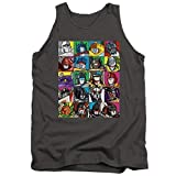 Transformers Transformer Squares Unisex Adult Tank Top for Men and Women, Medium Charcoal